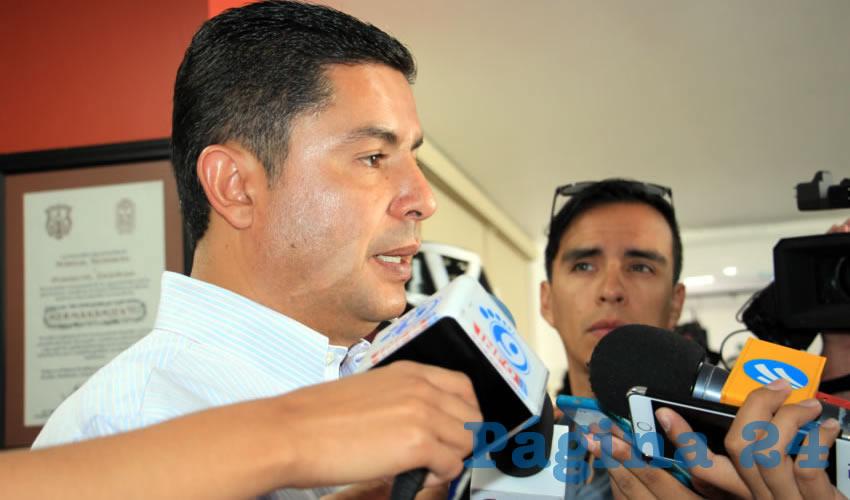 Enrique Flores Mendoza: La policía de Guadalupe es la mejor pagada (Foto: Rocío Castro Alvarado)