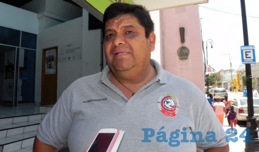 Juan Armando Martínez Godínez, secretario general del Sindicato Nacional de Trabajadores del Servicio Postal Mexicano (Sntsepomex) en Aguascalientes