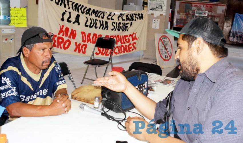 Martín Pueblo: Es necesario exigir trabajo del gobierno para frenar la inseguridad (Foto Merari Martínez Castro)