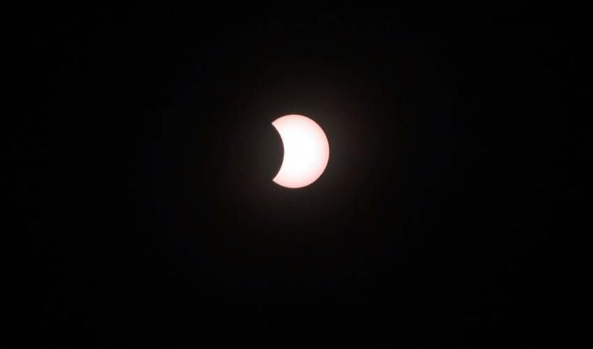 """Estuvo """"padre""""  el eclipse solar"""