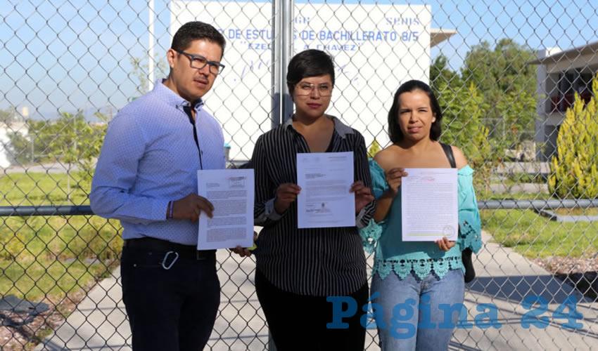 Mariana Ávila Montejano, coordinadora del OVSGA, encabezó la denuncia pública (Fotos: Eddylberto Luévano Santillán)