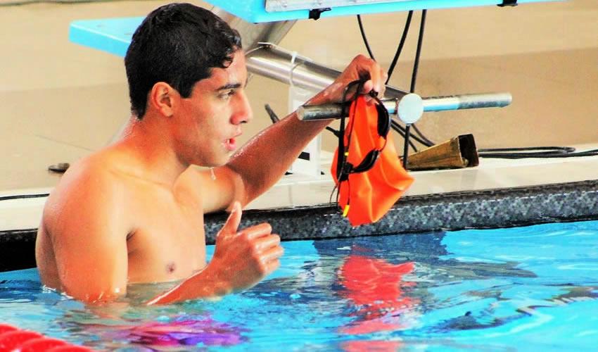 Sebastián López Carmona mejoró por siete segundos su marca en la prueba de 50 metros mariposa