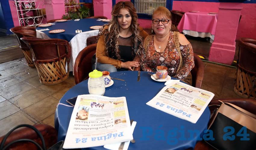 Cristina Ramírez Muñoz y Lorena Negrete Chávez, compartieron el pan y la sal en el restaurante La Saturnina