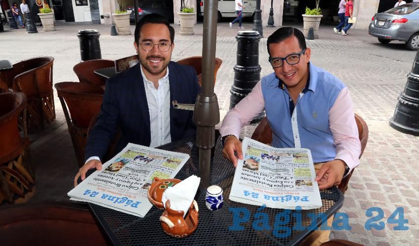 En el restaurante La Saturnina compartieron el primer alimento del día Claudia López de Dondiego, José Dondiego Valdés y María José Lucio Dondiego
