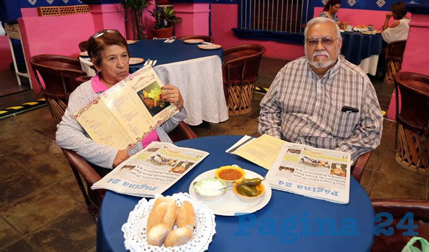 En La Saturnina almorzaron Rosa Berber y Salvador Berber Cruz