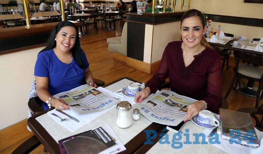 En Sanborns Francia departieron Norma Zamora, diputada local por el PAN y Judith Díaz Gutiérrez