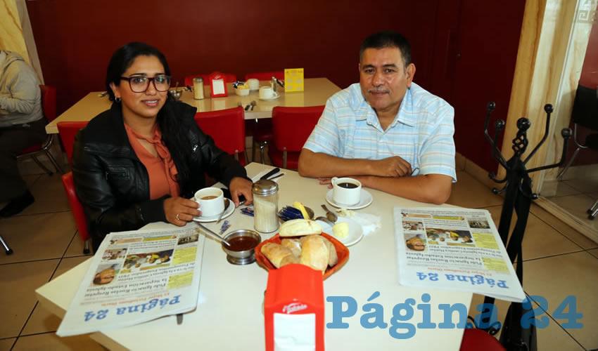 Diana Karina Vázquez López y Pedro Pérez Gómez compartieron el pan y la sal en el restaurante Mitla