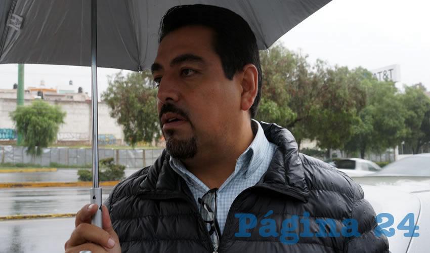 Marco Antonio Ruelas Zavala, secretario general del Sindicato Único de Trabajadores del Instituto Zacatecano de Educación para Adultos (SUTIZEA) (Foto Merari Martínez Castro)