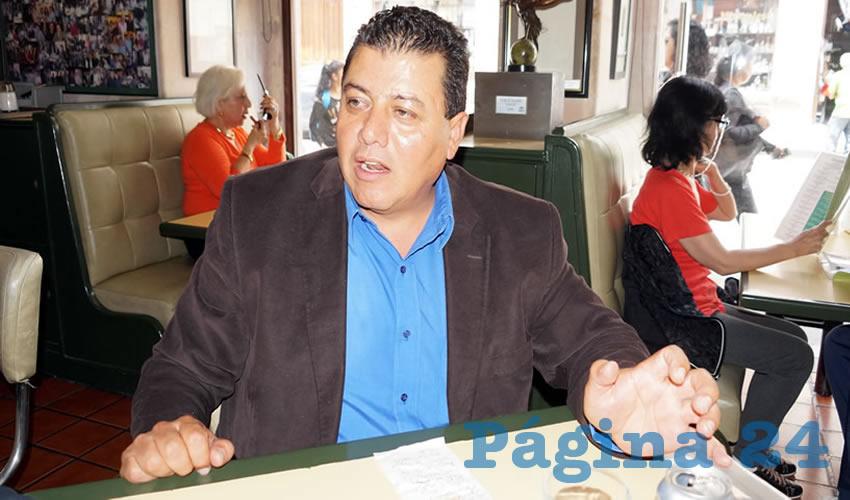 Fernando Galván Martínez, líder de la corriente Galileos perteneciente al Partido de la Revolución Democrática (PRD) y líder social de organizaciones campesinas (Foto Merari Martínez Castro)