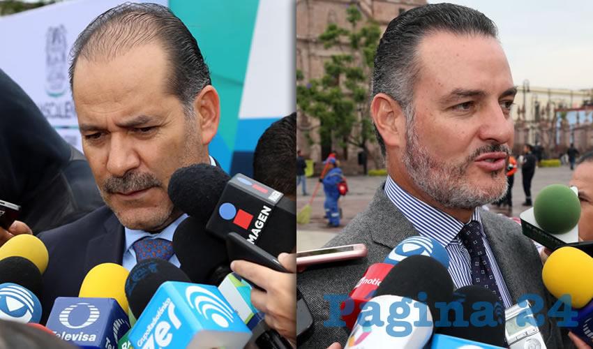 Martín Orozco Sandoval, gobernador del Estado   René Urrutia de la Vega, fiscal general del Estado