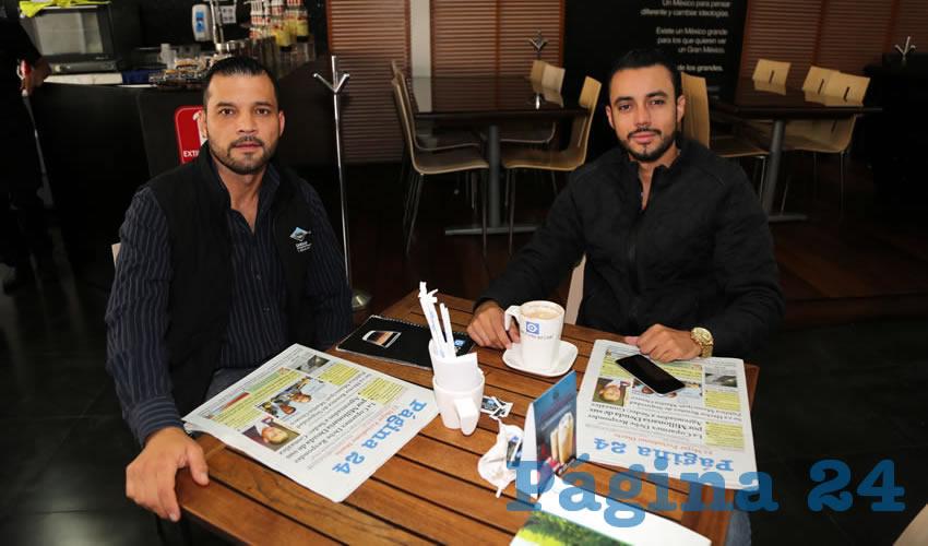 En Café Punta del Cielo departieron Christian Humberto Bonilla Rodríguez y Leonardo Vargas Moreno