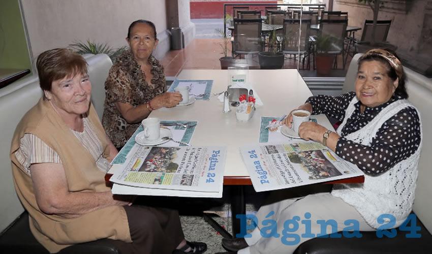 En el restaurante Quality Inn almorzaron Ramona Hernández Padilla, María de la Cruz López Ruvalcaba y Josefina Tiscareño García