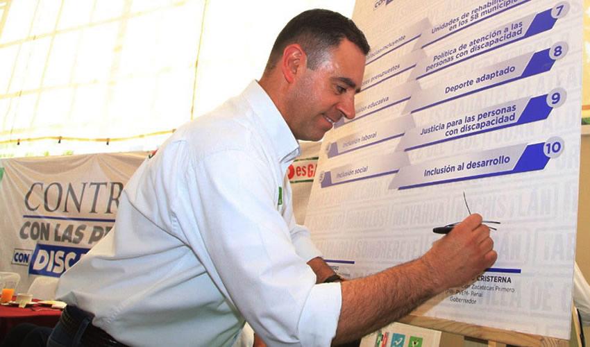 """Alejandro Tello Cristerna, gobernador de Zacatecas ...""""Si no cumplo, ¡me voy!""""..."""