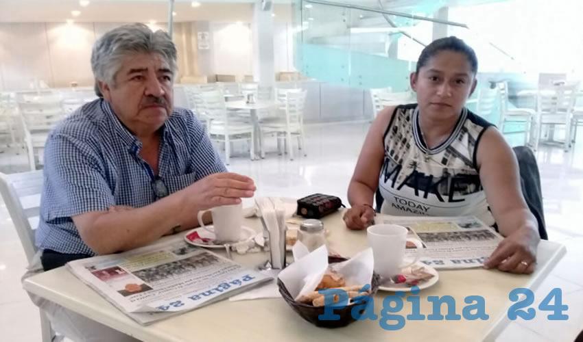 Alberto Valadez y Mónica Martínez, visitantes del Estado de México, almorzaron en el restaurante Del Centro