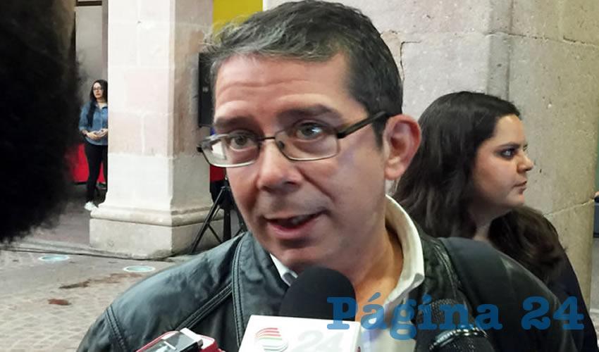 Jenaro Villamil Rodríguez, periodista y escritor mexicano, reportero de Proceso y colaborador de Página 24 (Foto Rocío Castro Alvarado)