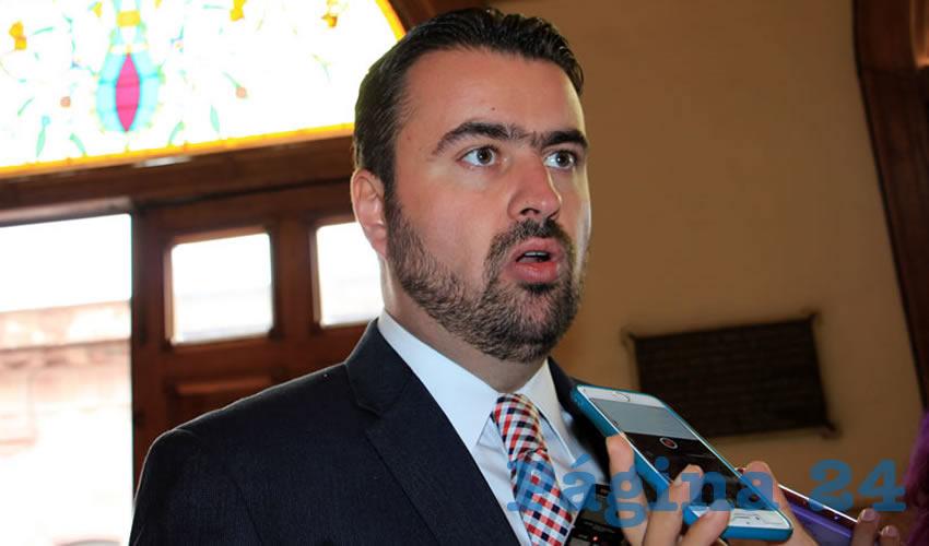 José Haro de la Torre, alcalde de Fresnillo: Muchos de los delitos que se comenten en Zacatecas son del fuero federal (Foto: Rocío Castro Alvarado)