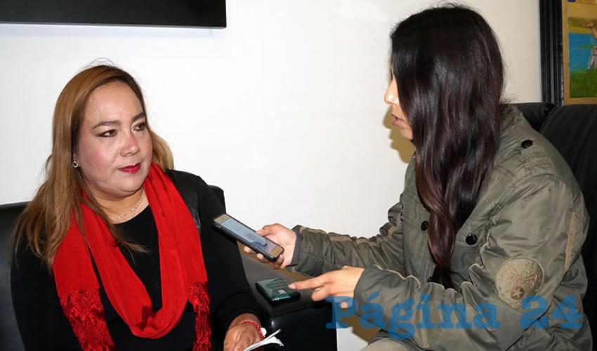 Griselda Fabiola Flores Medina, magistrada presidenta del Tribunal de Conciliación y Arbitraje del Estado (Foto Merari Martínez)