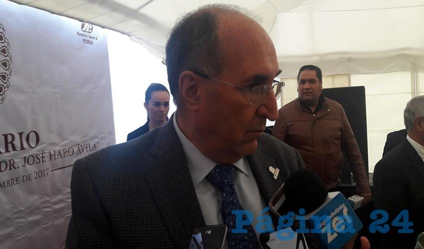 Gilberto Breña Cantú, Director de los Servicios de salud del Estado