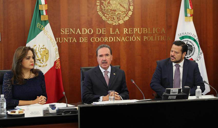 Emilio Gamboa Patrón, coordinador de la fracción parlamentaria del PRI en el Senado de la República