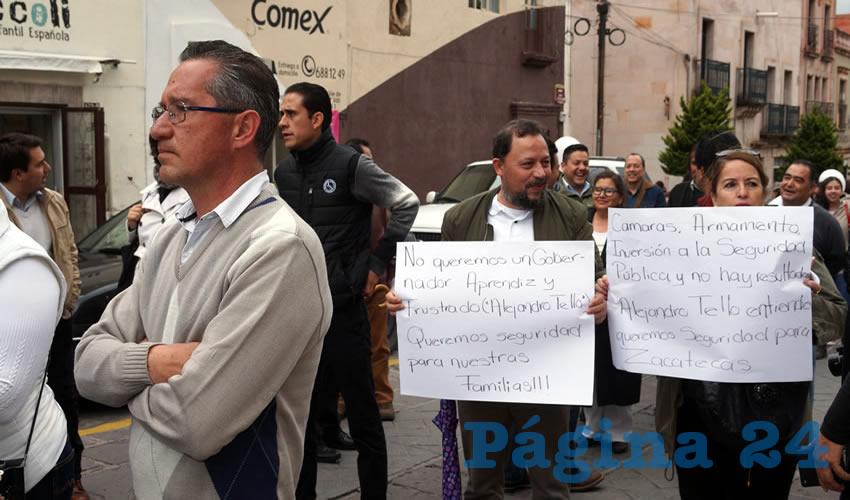"""Marco Antonio Vargas Duarte, vocero en materia de seguridad en Zacatecas, de espaldas a los reclamos de la ciudadanía indignada: """"No queremos un Gobernador aprendiz y frustrado (Alejandro Tello) queremos seguridad para nuestras familias!!!"""""""