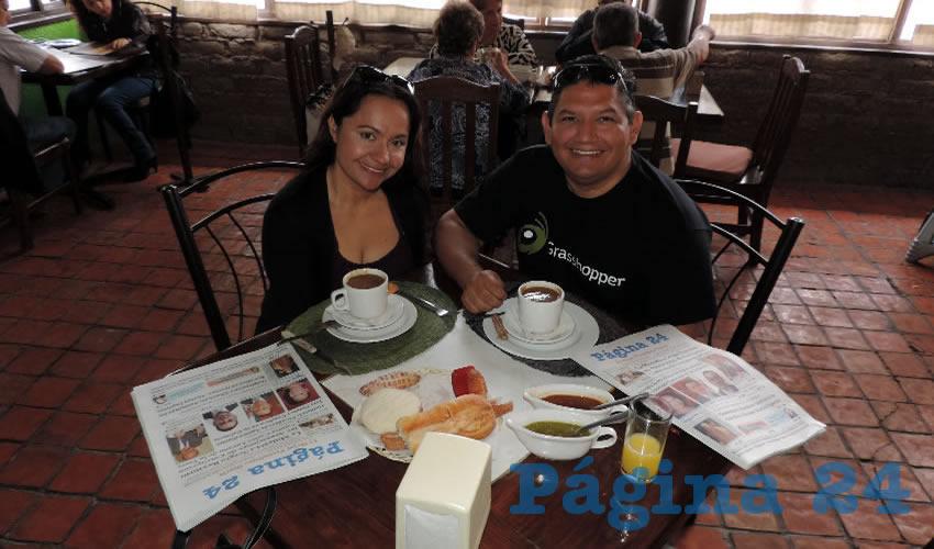 En el restaurante El Campirano almorzaron Fabiola Durán y Manuel Cisneros