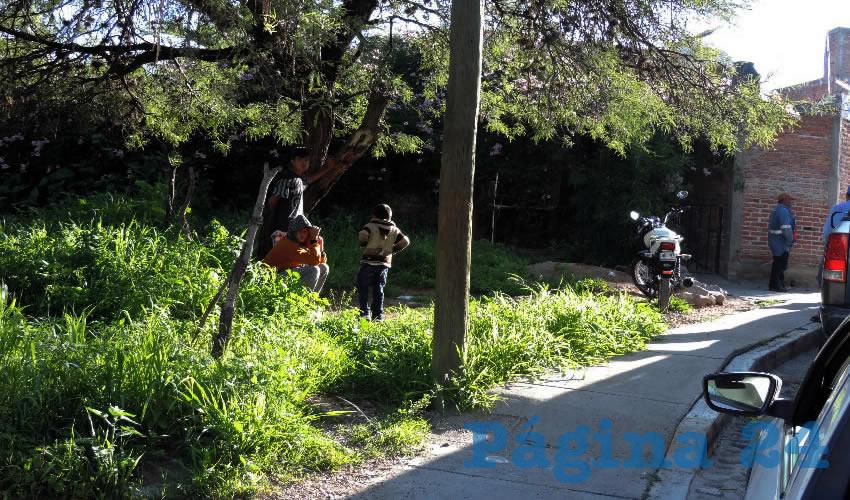 En la parte posterior de su casa del barrio de Guanajuato, en Calvillito, se ahorcó Juan Gutiérrez Esparza
