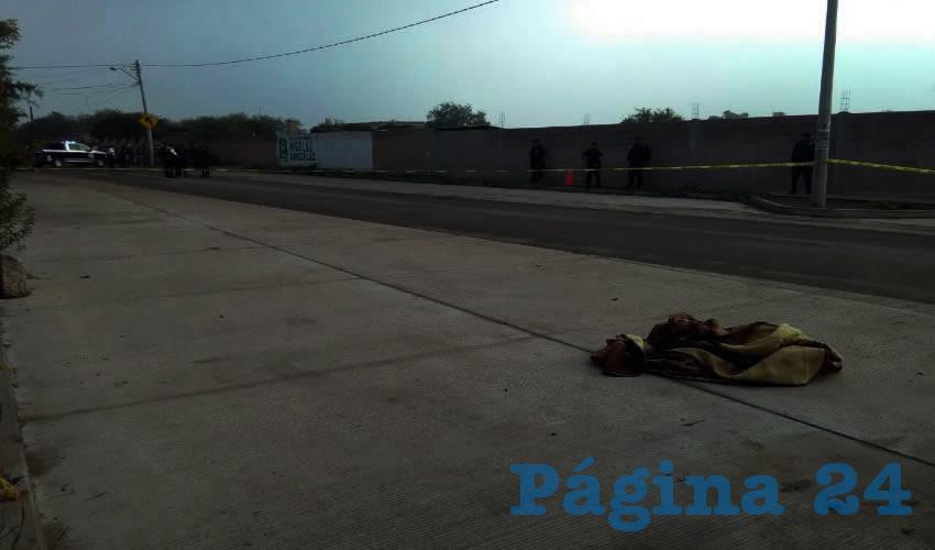 Sobre avenida Moctezuma, en la comunidad Zacatequillas, fue encontrado el cadáver embolado