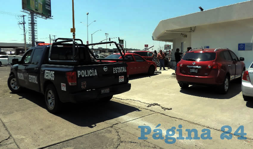 El asalto ocurrió en el estacionamiento del banco BBVA Bancomer, en avenida Adolfo López Mateos Poniente