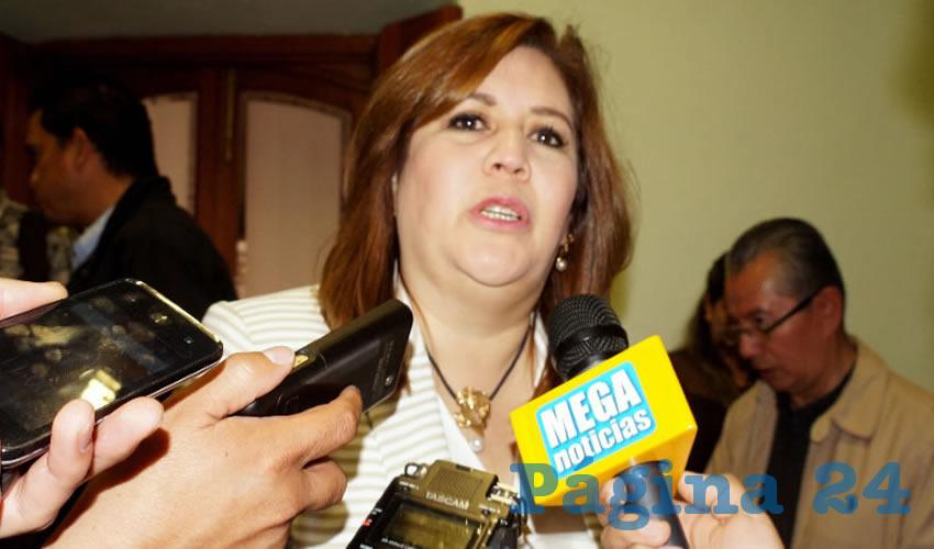 Fabiola Gilda Torres Rodríguez, titular de la Secretaría General de Gobierno (Foto Merari Martínez Castro)