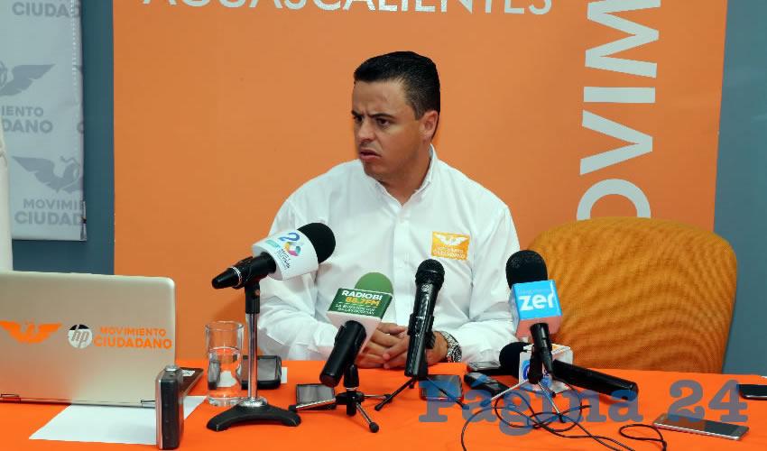 Jaime Durán Padilla, coordinador estatal de Movimiento Ciudadano (Foto: Eddylberto Luévano Santillán)