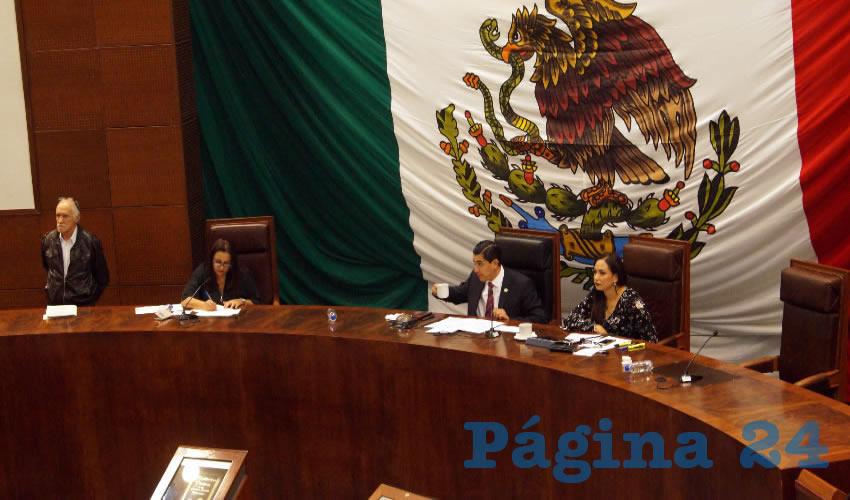 Los diputados aprobaron por unanimidad diversas modificaciones transitorias de la Ley del Sistema Estatal Anticorrupción de Zacatecas y la Ley de Justicia Administrativa del Estado (Foto Merari Martínez Castro)