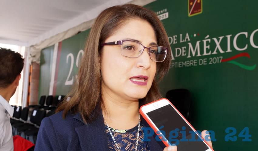 Adriana Rivero Garza, titular de la Secretaría de las Mujeres (Semujer): Conavim revisará a finales del mes avances a recomendaciones por solicitud de alerta de género (Foto Merari Martínez Castro)