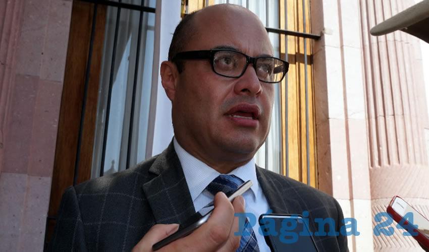 """Francisco Murillo Ruiseco, procurador general de Justicia, """"tapaos los unos a los otros"""" (Foto Merari Martínez Castro)"""