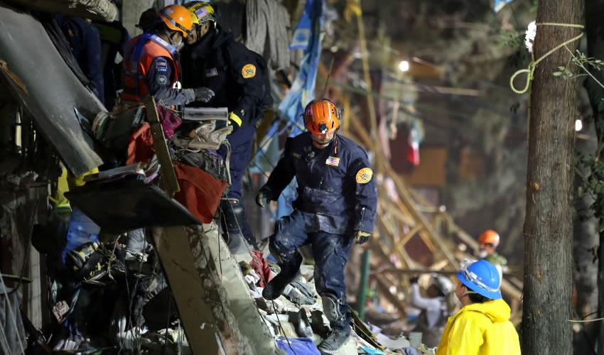 No se Dejará de Buscar y Rescatar  a Sobrevivientes: Protección Civil