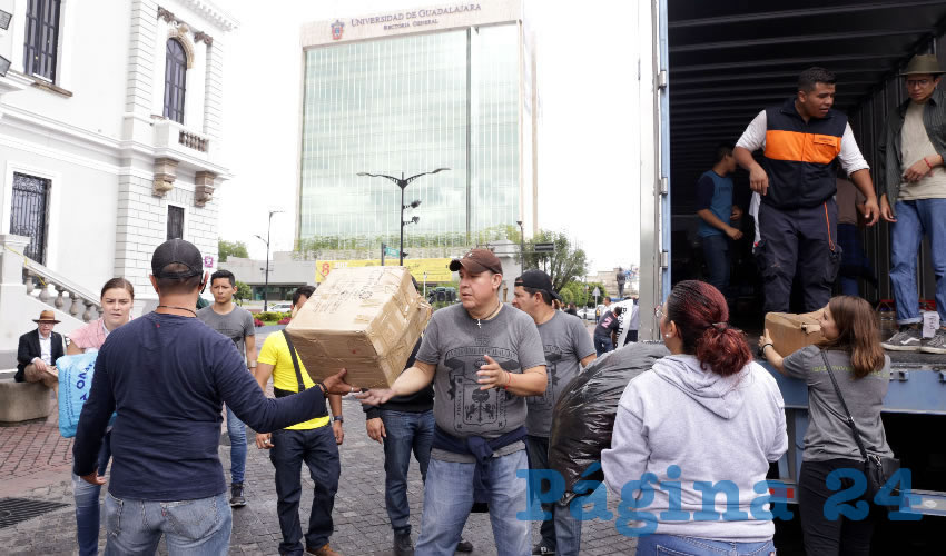 UdeG acopia 100 toneladas para  los damnificados por temblores