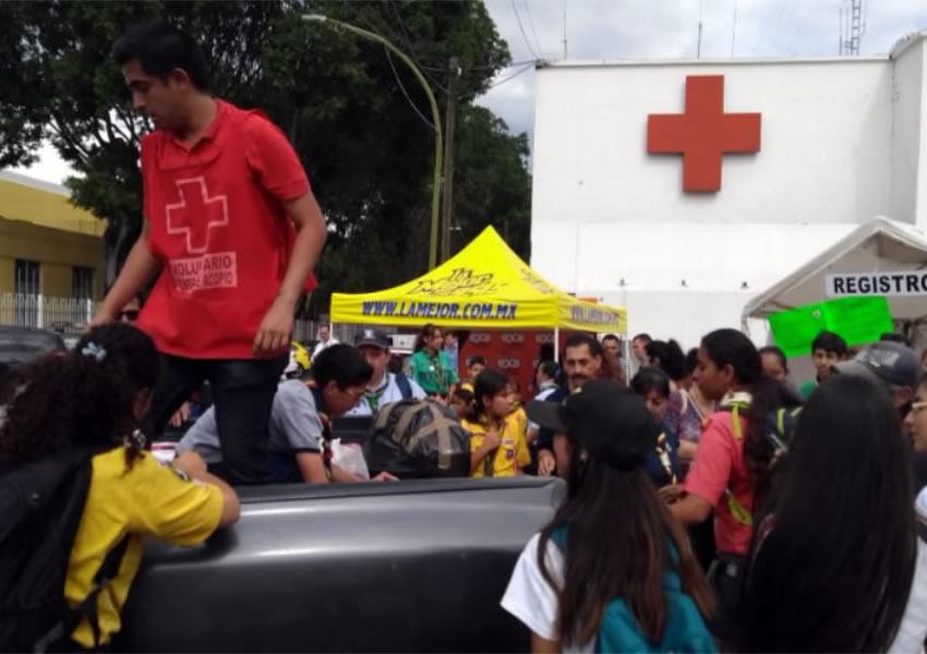 'Saturan' centro de  acopio de Cruz Roja
