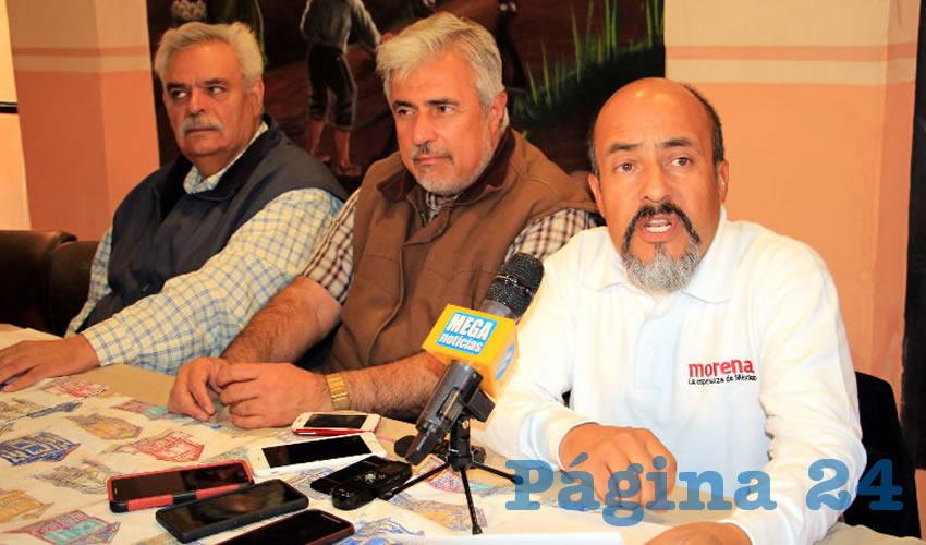 Fernando Arteaga Gaytán, dirigente estatal del Movimiento de Regeneración Nacional (Morena) (Foto Rocío Castro Alvarado)