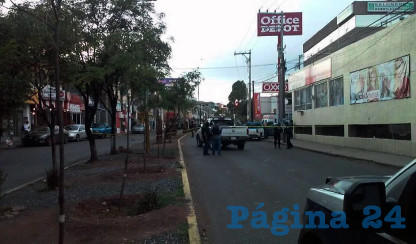 Hieren a un sujeto en la Avenida García Salinas, colonia Arboledas, en Guadalupe (Fotos: Cortesías)