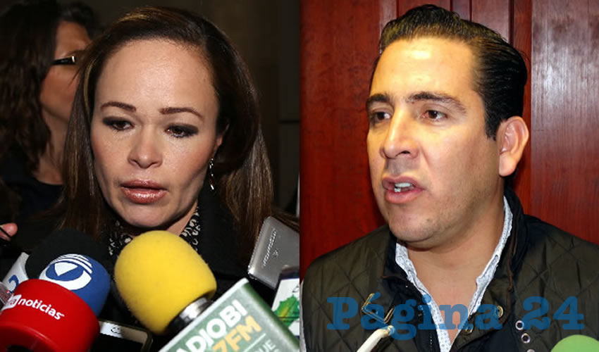 Martha Elisa González Estrada, legisladora local   Gustavo Alberto Báez Leos, legislador local