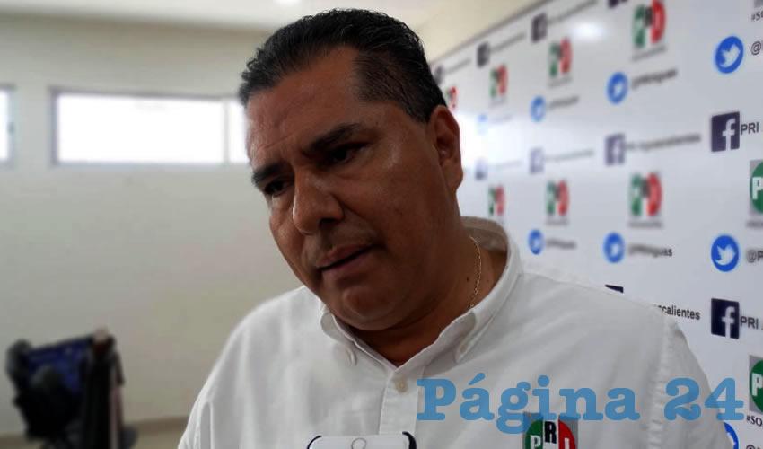 José Enrique Juárez Ramírez, presidente del PRI Estatal