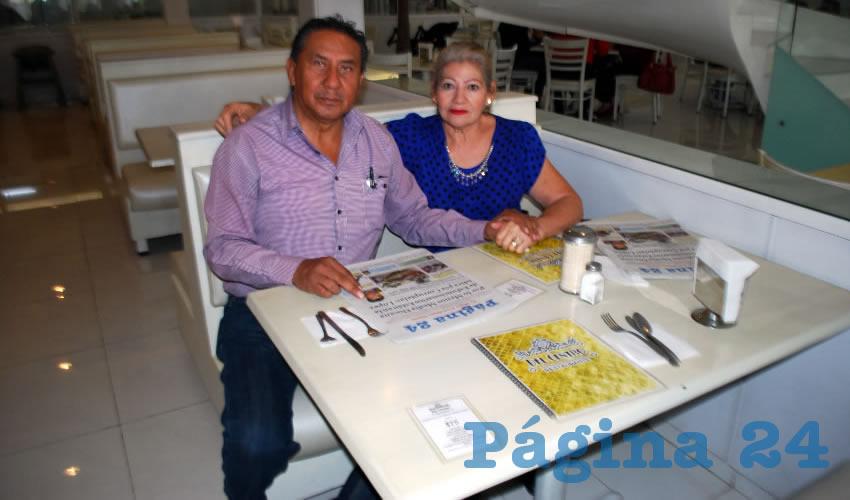 En el restaurante Del Centro almorzaron Porfirio Martínez Ávila y Tomasa Zazueta