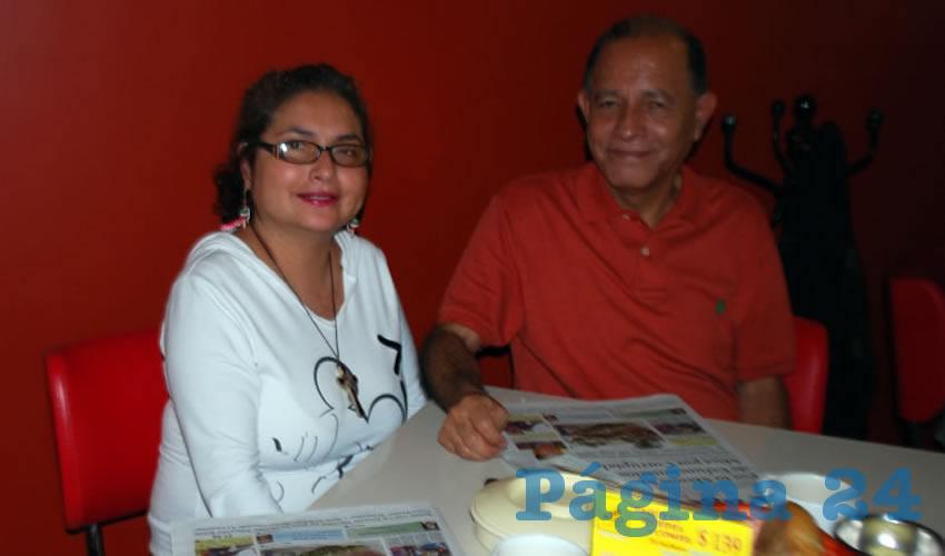 Ana María González González y Juan Manuel González Macías compartieron el pan y la sal en el restaurante Mitla