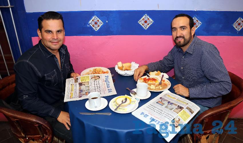En La Saturnina almorzaron Vicente Pérez Almanza y Pepe González Torres, empresario