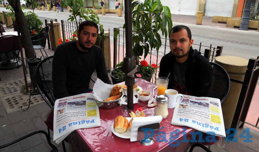 En el restaurante Las Antorchas compartieron el pan y la sal Alfonso Garduño Mendoza y Raúl Rodríguez