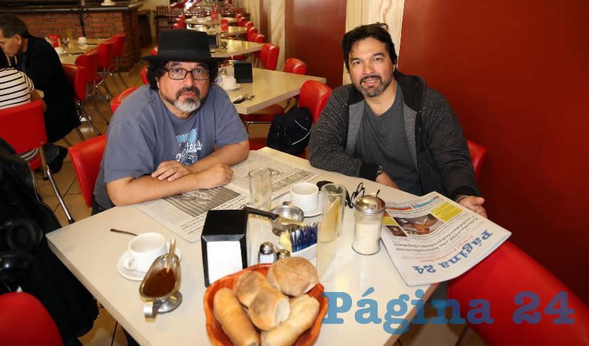 En el restaurante Mitla almorzó el Grupo Urbanita y los Metronautas, Joaquín Pérez Tejada y Arturo Pérez Tejada
