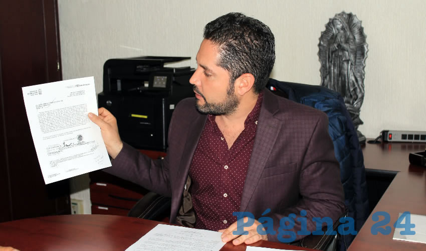 Carlos Salmón Buenrostro: La rendición de cuentas será ante la contraloría en un plazo no mayor a 30 días (Foto Rocío Castro Alvarado)