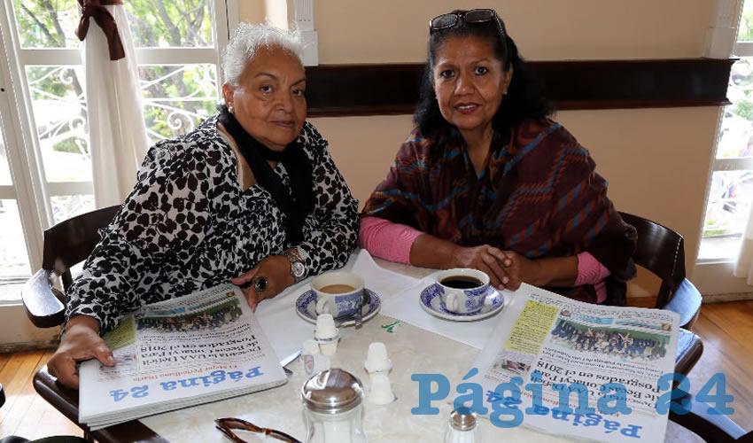 En Sanborns Francia almorzaron María Luisa Godínez Méndez y Leticia Angulo Villalvazo