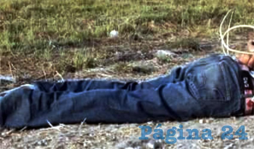 Así fue encontrado el cadáver en el municipio de Nieves