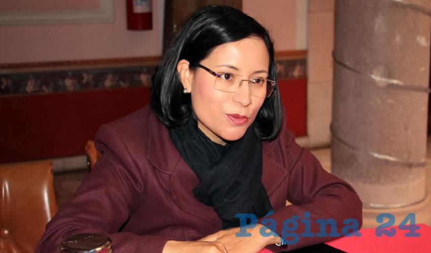 María de la Luz Domínguez Campos, presidenta de la Comisión de Derechos Humanos del Estado de Zacatecas (CDHEZ), (Foto Rocío Castro)