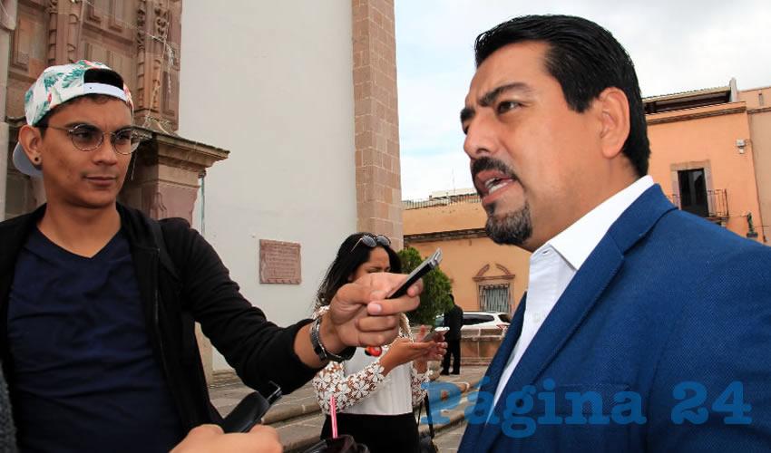 Marco Antonio Ruelas Zavala, líder del Sindicato Único de Trabajadores del Instituto Zacatecano de Educación para Adultos (SUIZEA) (Foto Rocío Castro Alvarado)